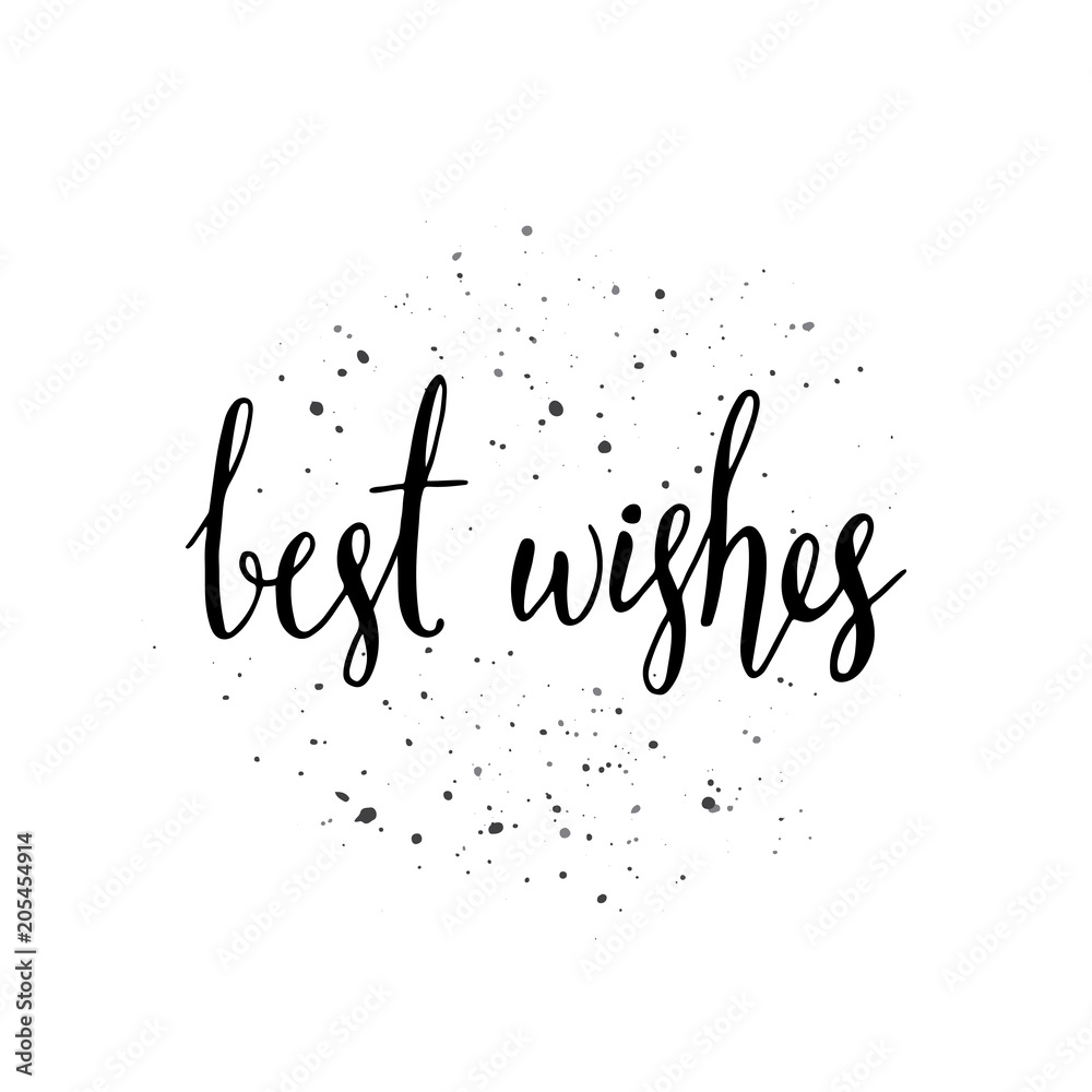 Fototapeta Best wishes - hand written lettering