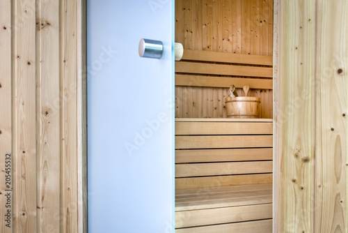 Open Glass Doors To Finish Sauna Buy This Stock Photo And Explore