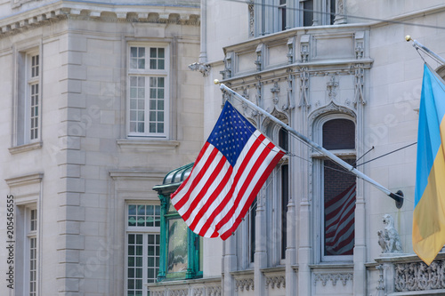 Fotografía  American flag waving
