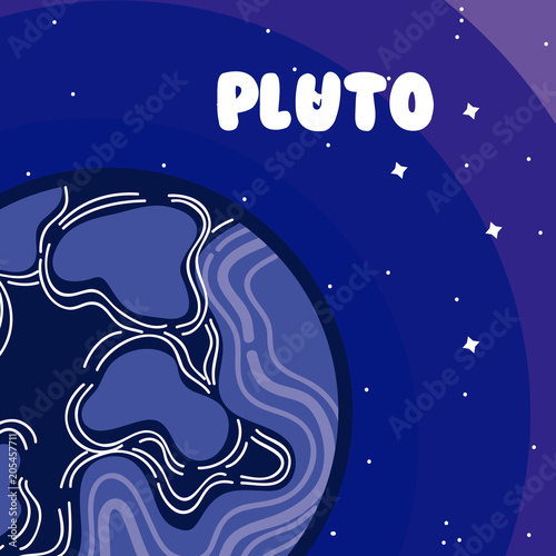 Photo  Pluto milkyway planet