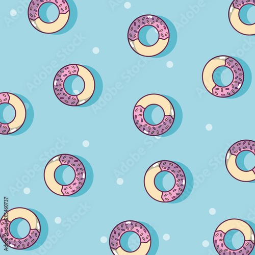 Donuts dessert cartoons background Lerretsbilde