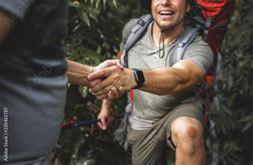 Fotografie, Obraz  Man giving a helping hand