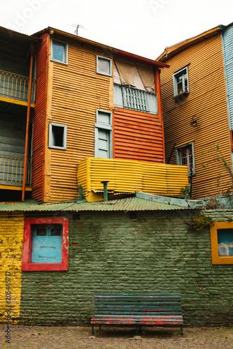 Fotobehang Zuid-Amerika land La Boca neighborhood of Buenos Aires Argentina