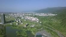 YiLan, Taiwan - May 12, 2018 : Aerial View Of LanYang Museum, Tilt Down.