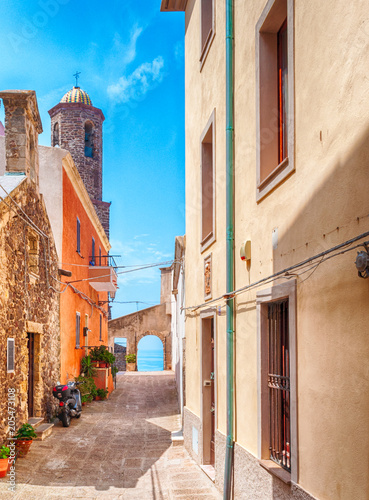 the beautiful alley of castelsardo old city