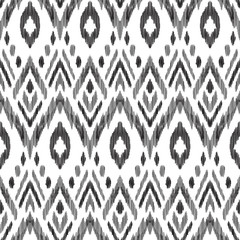 Tribal pattern. Seamless background. Scribble texture. Black and white graphi...