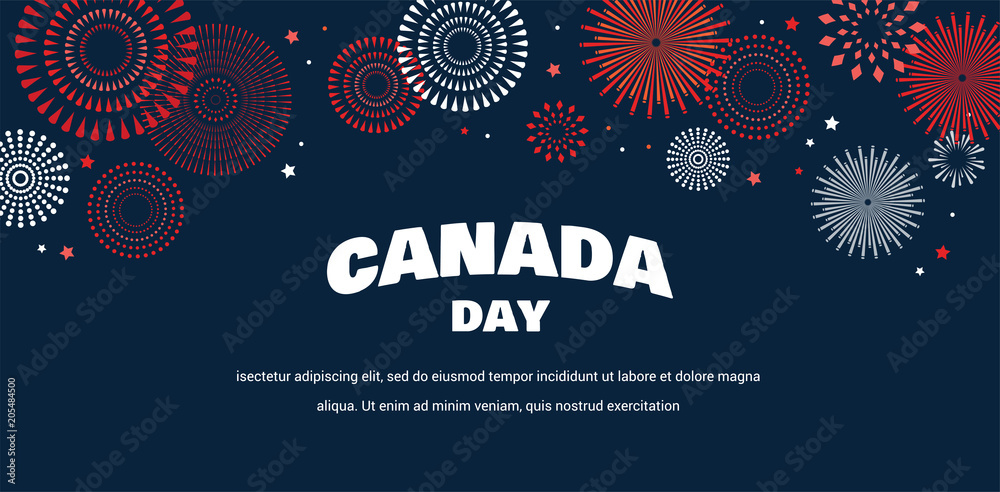 Fototapety, obrazy: Celebrate banner of the national day of Canada. Happy independence day card.