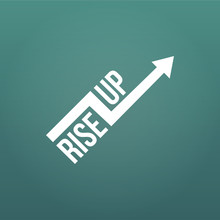 White Arrow With Rise Up Sign. Financial Sign, Rising Trend. Vector Illustration Isolated On Modern Background.