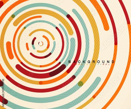 Circular lines, circles, geometric abstract background Wallpaper Mural