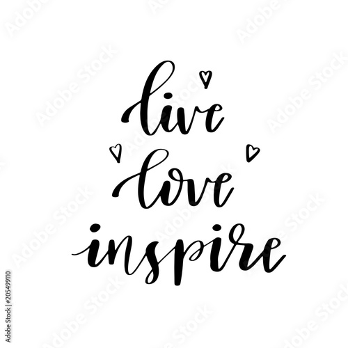 Inspirational quote 'live laugh love' Wallpaper Mural