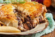 Homemade Beef Stew Pie With Fr...