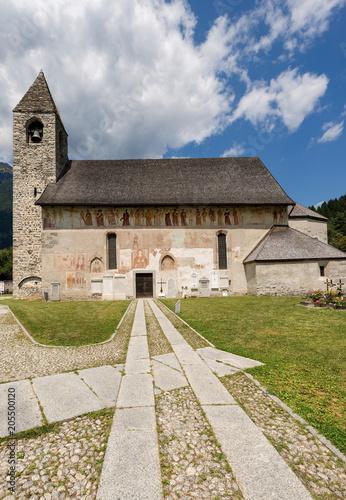 Deurstickers Historisch geb. Church of San Vigilio - Pinzolo Trentino Italy
