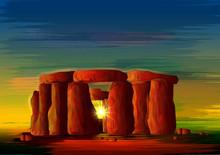 Stonehenge World Famous Historical Monument Of Wiltshire, England