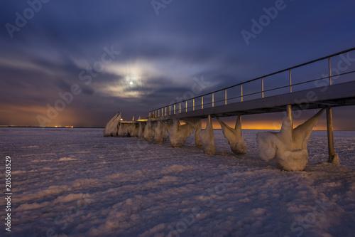 Photo  Pier in Skodsborg near Copenhagen, Denmark