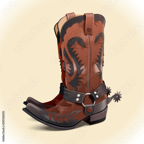 Fotografia, Obraz A pair of cowboy boots