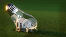 Light Bulb House - 3d Rendering