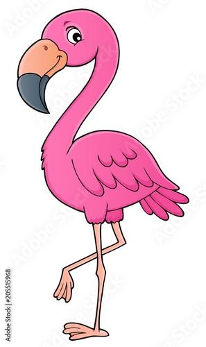 Staande foto Voor kinderen Flamingo topic image 1