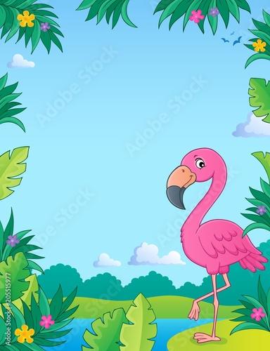 Foto op Canvas Voor kinderen Flamingo topic image 2