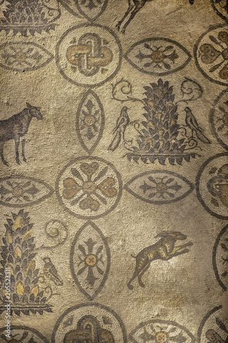Famous mosaics in basilica of Aquileia, Friuli, Venezia Giulia, Italy Wallpaper Mural