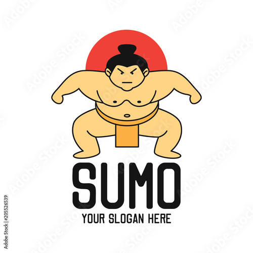 Fotomural sumo logo with text space for your slogan / tag line, vector illustration