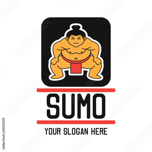 Cuadros en Lienzo sumo logo with text space for your slogan / tag line, vector illustration