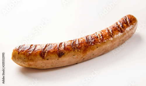 Fotomural Spicy cooked German bratwurst sausage