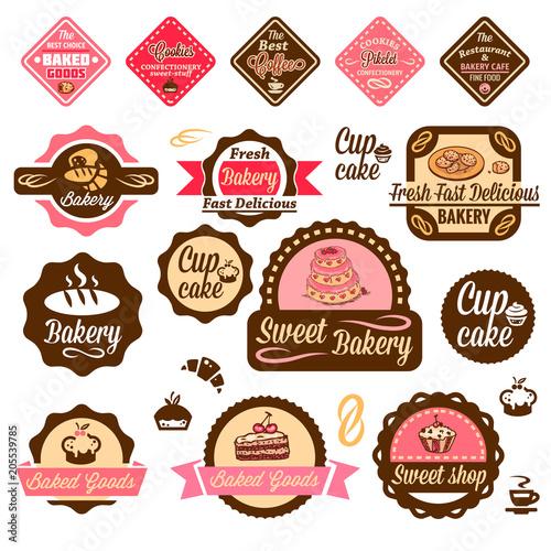 Photo Stands Vintage Poster baked goods design elements 1