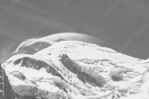 Spoed Foto op Canvas Alpen View of the Mont Blanc. Alps.