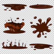 Puddle Mud Vector Cartoon Set ...