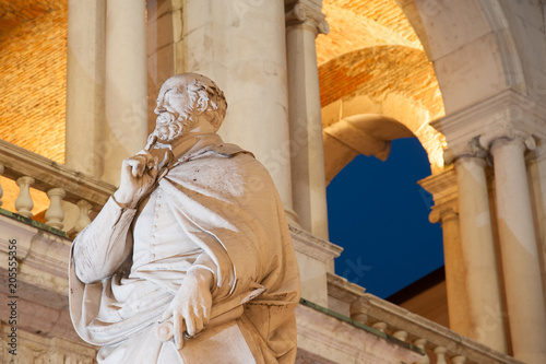 Fotografie, Obraz  Night view of the statue of the famous Renaissance architect Palladio and part o