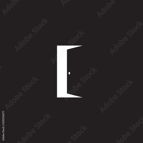 Open door vector icon, exit symbol Canvas Print