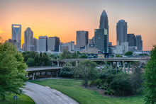 City Skyline Of Charlotte North Carolina