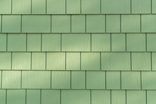 Green Wall Shingles Background