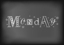 Lettering Of Monday With Diffe...