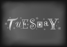 Lettering Of Tuesday With Diff...