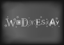 Lettering Of Wednesday With Di...