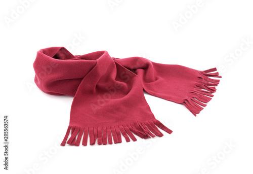 Cuadros en Lienzo Red scarf on white background