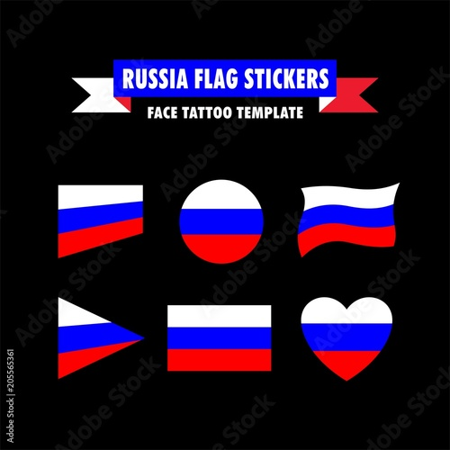 Russia Flag Template Buy This Stock Photo And Explore Similar