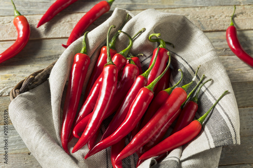 Canvas Prints Hot chili peppers Raw Red Organic Hot Finger Peppers