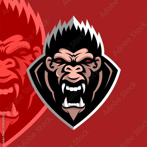gorilla esport logo template buy this stock illustration and
