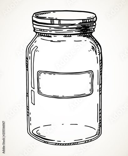 Hand drawn jar Fototapeta