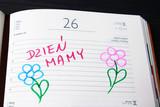 Fototapeta Kwiaty - Kartaka z kalendarza: Dzień Mamy - 26 maja.
