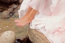Female Feet In Water, Refreshi...