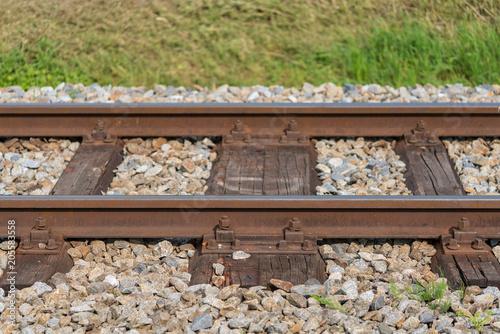 Tuinposter Spoorlijn Eisenbahngleise