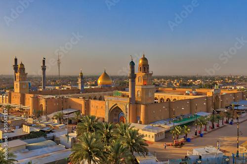 Aerial View of the Great Masjid of Kufa Wallpaper Mural