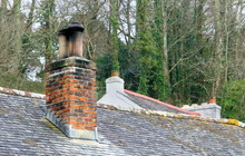 Old Red Brick Chimney Stack On...