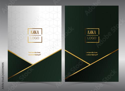 Fotografía  Luxury Premium menu design,Product cover Package, Bag,Financial Annual report fo