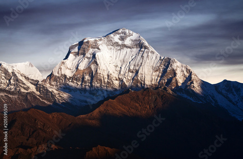 Panorama of mount Annapurna - view from Poon Hill on Annapurna Circuit Trek, Nep Wallpaper Mural