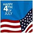 Vector illustration. background American independence day of July 4. Happy 4th of July. Designs for posters, backgrounds, cards, banners, stickers, etc