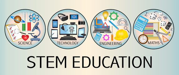 STEM Education icon banner